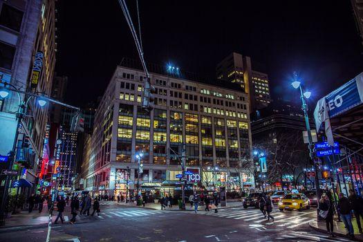 Заставки огни, ночной город, нью-йорк