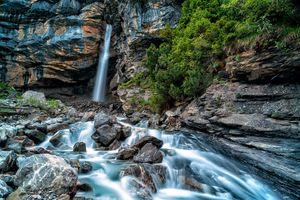 Бесплатные фото река,водопад,скалы,камни,течение,природа,пейзаж