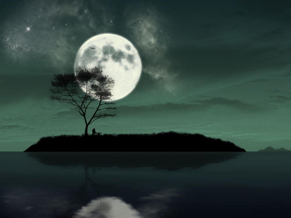 Рисунок большой Луны · бесплатное фото