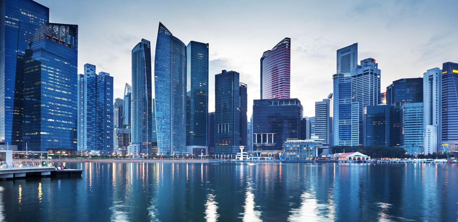 Фото бесплатно небоскребы, здание, море - на рабочий стол