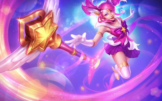 Photo free league of legends, lux, staff