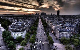 Бесплатные фото Париж,Франция,город,закат,городской пейзаж,сумерки,дома