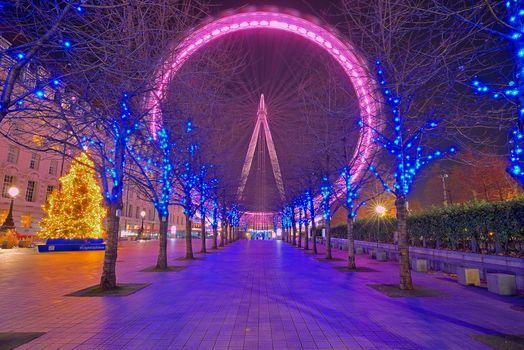 Фото бесплатно Рождественский вечер, London Eye, Лондон