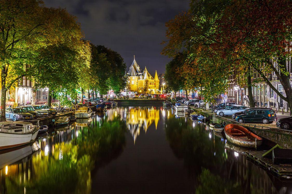 Фото бесплатно Нидерланды, дом, канал - на рабочий стол