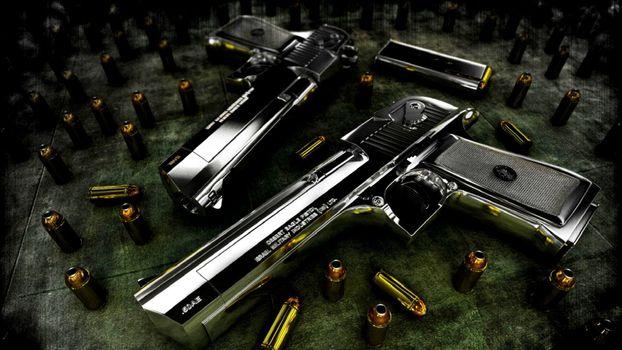 Фото бесплатно патроны, стволы, пистолет