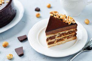 Фото бесплатно орехи, шоколад, сливки