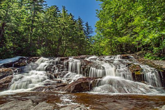 Бесплатные фото водопад,скалы,лес,деревья,природа,пейзаж