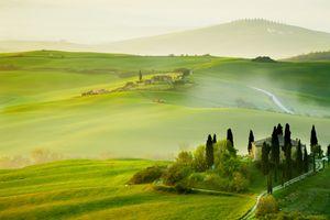 Фото бесплатно поля, зелень, холмы