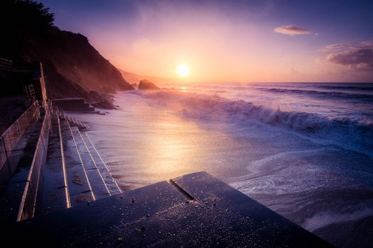 Бесплатные фото Корнуолл,Юго-Западная Англия,море,пляж,закат,волны,пейзаж