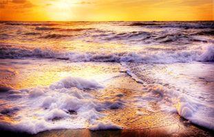 Фото бесплатно закат, море, океан