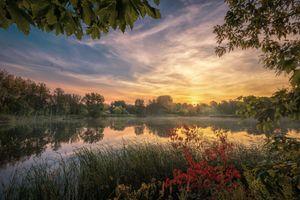 Фото бесплатно осень, пейзаж, отражение