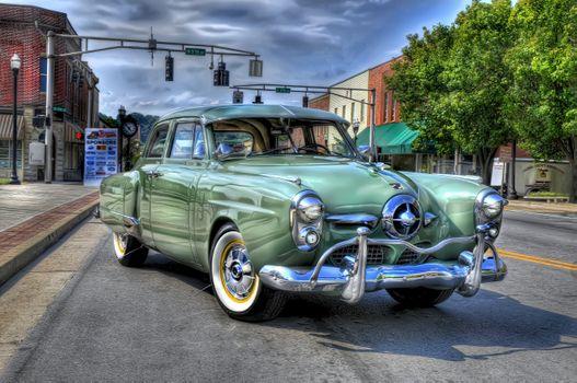 Photo free Green Studebaker, car, retro