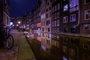 Photo free Amsterdam, Netherlands, night cities
