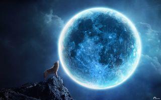 Фото бесплатно лунный свет, пейзажи, Луна