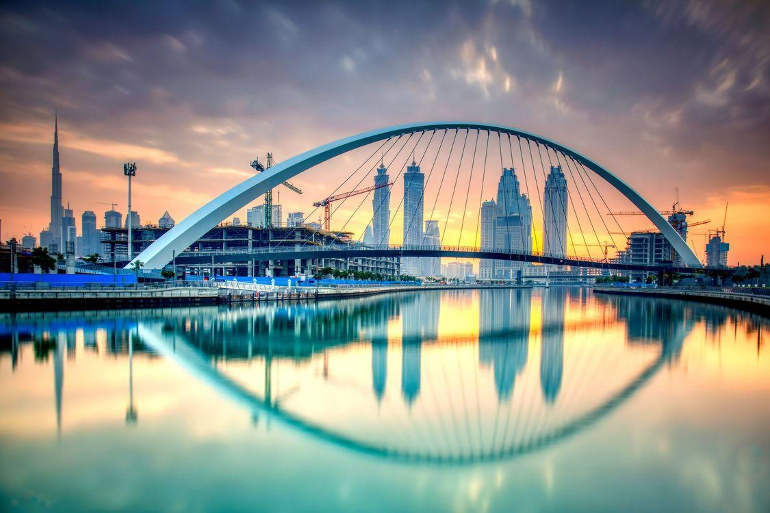 Фото бесплатно United Arab Emirates, архитектура, закат - на рабочий стол