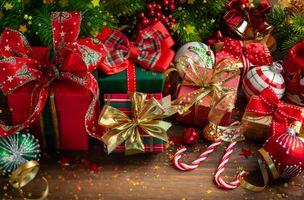 Фото бесплатно рождество, фон, игрушки