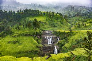 Фото бесплатно водопад Сент-Клер, Шри-Ланка, горы