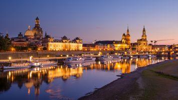 Фото бесплатно Dresden, береговая линия, пароходы