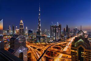 Заставки ночь, ОАЭ, Road