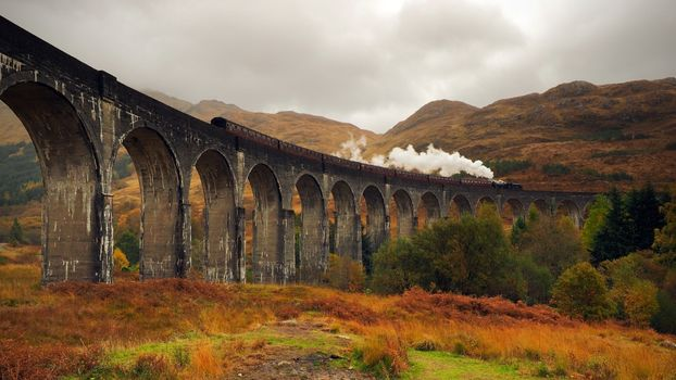 Photo free Scotland, train, autumn