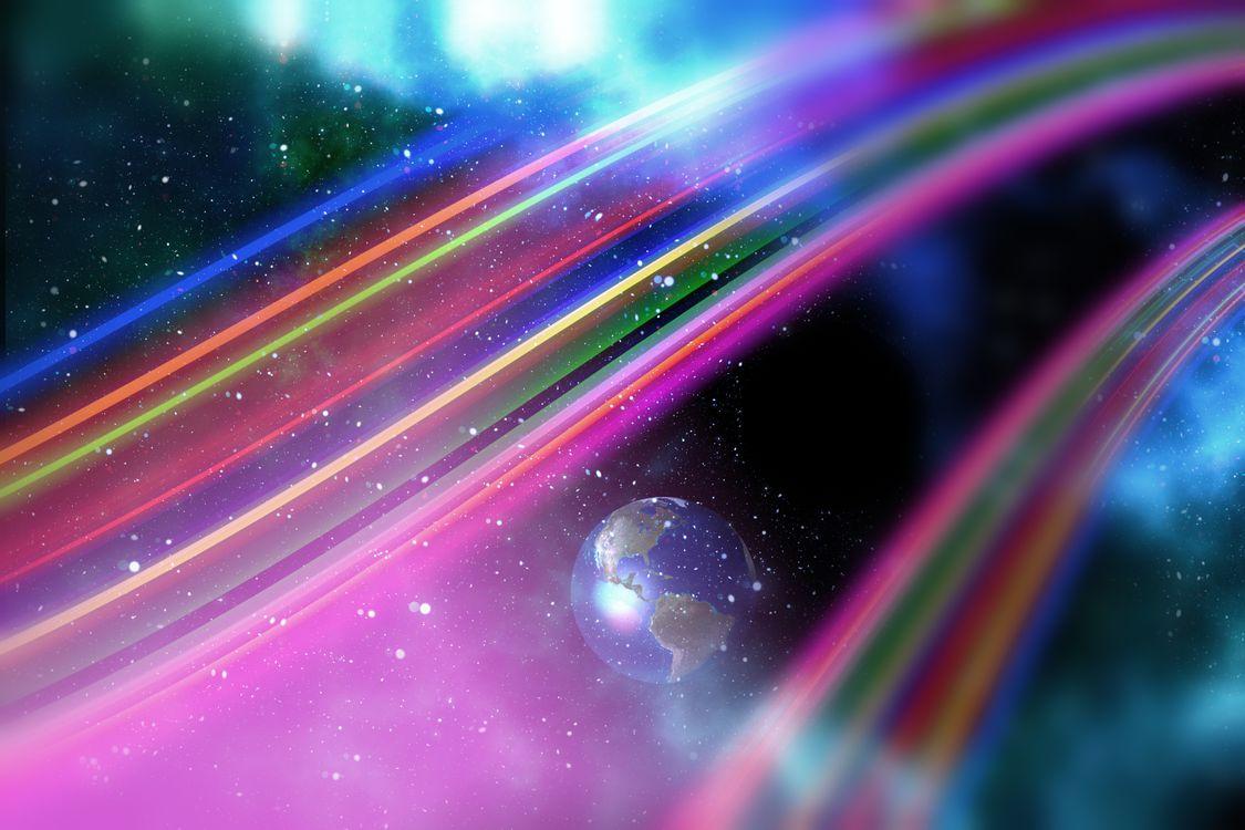 Фото бесплатно космическая абстракция, цветопередача, фон - на рабочий стол