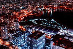 Заставки Yokohama,Япония,ночные города
