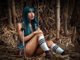 Фото бесплатно Девушка самурай, красота, позы
