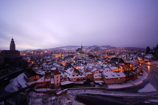 Фото бесплатно Прага, Чехия, ночной город