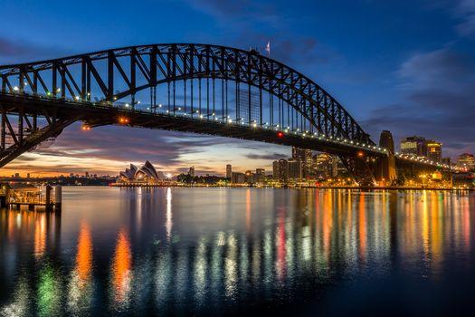 Фото бесплатно Sydney Harbour Sunrise, Австралия, Сидней