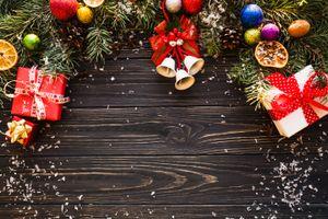 Фото бесплатно wood, подарки, декор, рамка, поздравительная, новогодняя